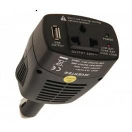 Adapteris/inverteris iš 12V cigarečių lizdo į 220V su 5V USB lizdu, BGS-technic 63528