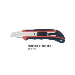 Peiliukas laužomomis geležtėmis 18 mm, su 3 peiliukų dėtuve rankenoje (ER-8109)