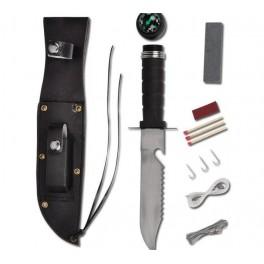 Turistinis peilis su rinkiniu ir dėklu (2078)