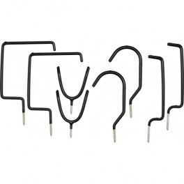 Kablių tvirtinamų ant lubų ir sienos, rinkinys 8 vnt.  Vorel 74689