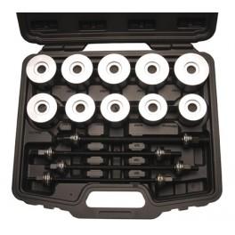 """Guminių įvorių/sailentblokų, guolių įpresavimo- išpresavimo komplektas 20 indėklų ir su 4 varžtais """"Kraftmann""""  Kraftmann 67305"""