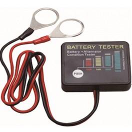 Skaitmeninis akumuliatoriaus testeris LED 12V, CE (SK2027)