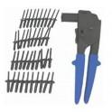Kniediklis plastikinėms kniedėms su 40vnt kniedžių (RK1201)