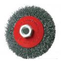 """Šepetys vielinis lėkštės tipo, pilkas, 100mm M14 """"Matrix"""" (ES733100)"""