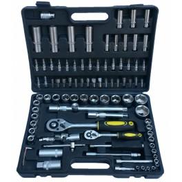 """Įrankių rinkinys 1/4""""+1/2"""", 94 dalių (ES-4294)"""