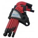 Šešiakampių raktų komplektas 1.5-10mm Cr-V, 9vnt. (YJHK-710S)