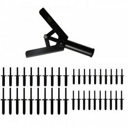 Kniediklis plastikinėms kniedėms su rinkiniu (8463)