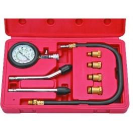 Benzininis kompresijos matuoklis su antgaliais 8vnt. JC-8015