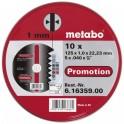 Metabo pjovimo diskų plienui rinkinys 10 vnt 125x1,0x22,2