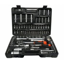 """Įrankių rinkinys 1/4""""+1/2"""", 94 dalių  ES78094"""