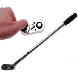 """Terkšlė ilga vartoma galvute 360° laipsnių, 1/2"""", 635 mm ilgio"""