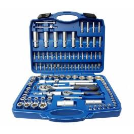"""Įrankių rinkinys   Cr-V   6.3 mm (1/4"""") + 12.5 mm (1/2"""")   108 vnt. (BT50108)"""