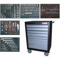 BGS Įrankių spintelė BGS2001 sukomplektuota su 243 įrankiais (MEI4060)