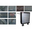 BGS Įrankių spintelė BGS4100 su 8 stalčiais sukomplektuota su 296 įrankiais (MEI4050)