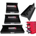 BGS Magnetinės lentynos įrankių vežimėliams ir kt. 3 vnt. 150-210-310 mm (MEI67150)