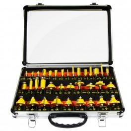 Medienos frezų rinkinys 35 dalių. Silver Tools MFK-35